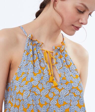 Lace-up nightdress blue.