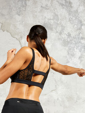 Bralet with strappy back - medium support noir.