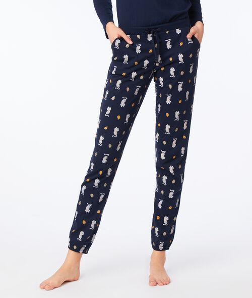 Leopard pyjama trousers