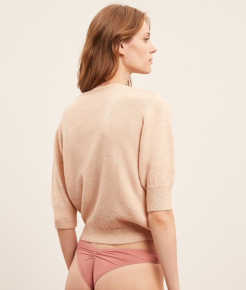 Knitted buttoned sweater;${refinementColor}