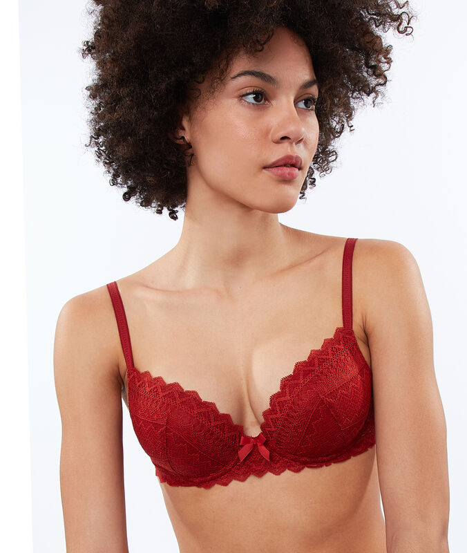 Bra no. 1 - lace magic up henna.