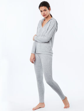 Heathered homewear sweatshirt gray.