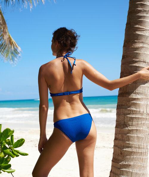 Textured push-up bikini top
