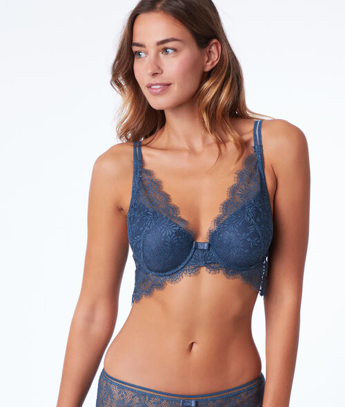 Bra n°6 - Natural look lace triangle bra with basque