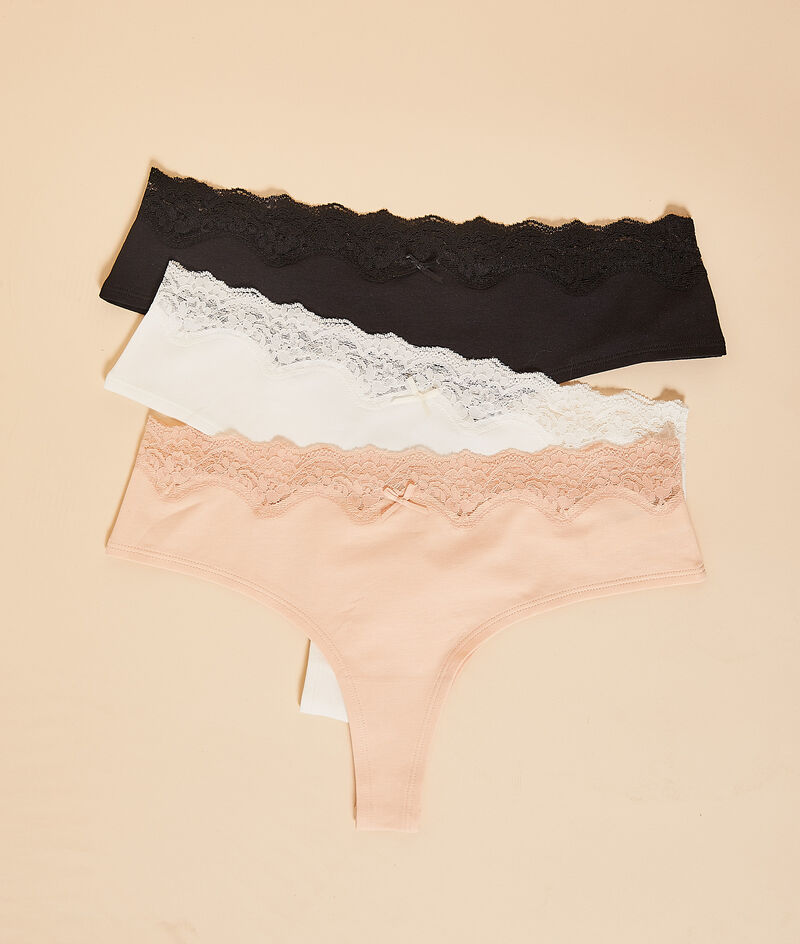 Pack of 3 thongs;${refinementColor}