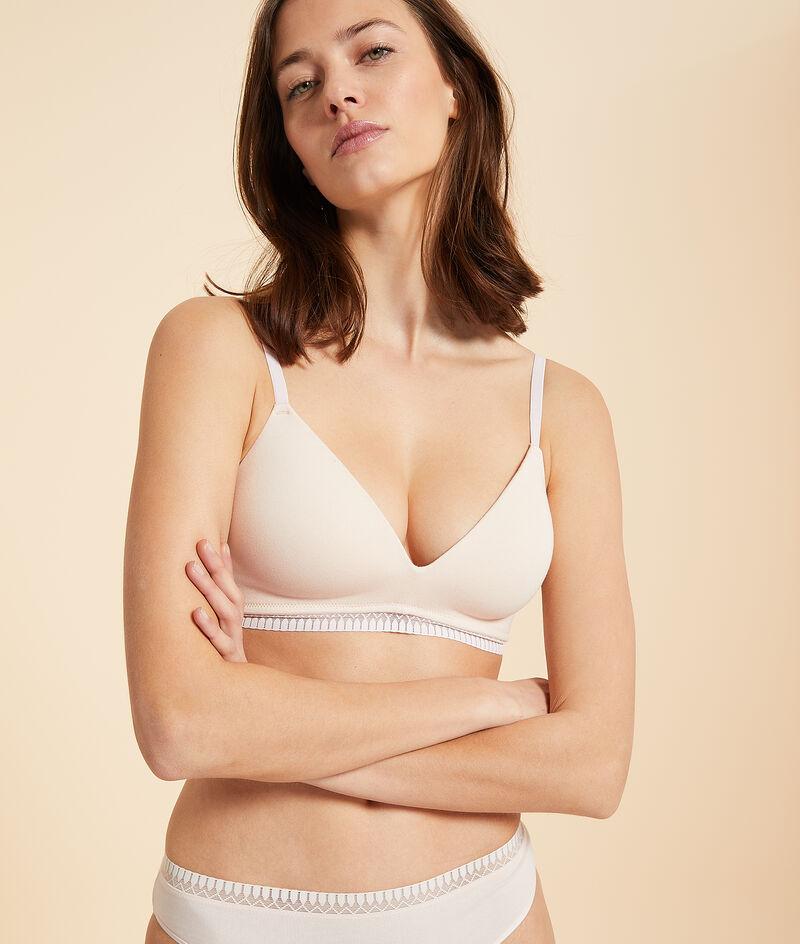 Organic cotton non-wired thin cup bra;${refinementColor}