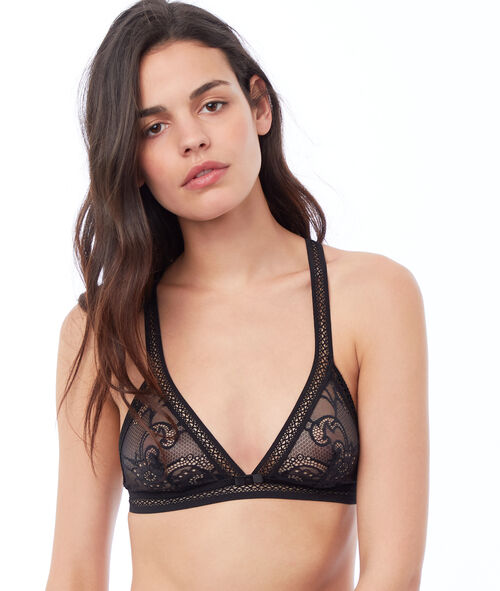Lace triangle, cross back
