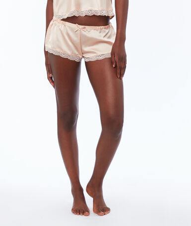 Satin shorts powder pink.