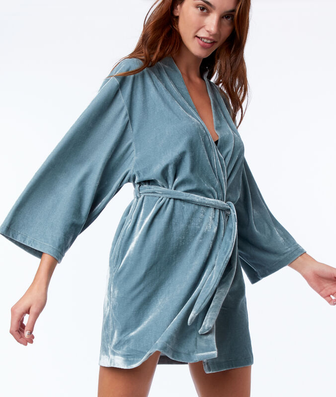 Velvet negligee blue.