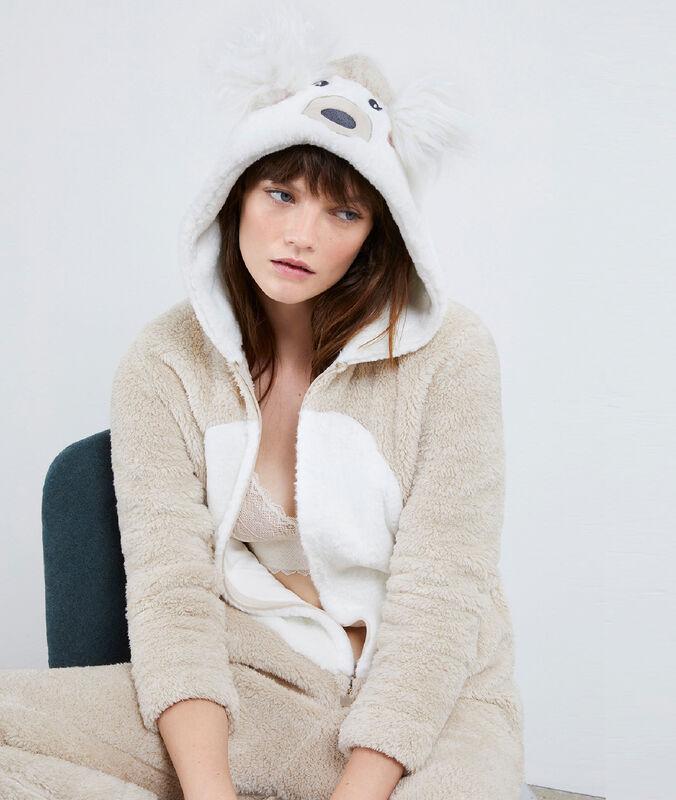 Bear onesie beige.