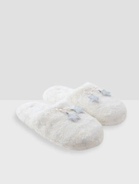 Stars slippers ecru.