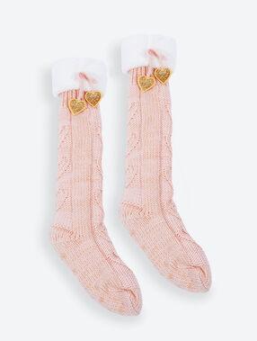 Slipper socks pink.