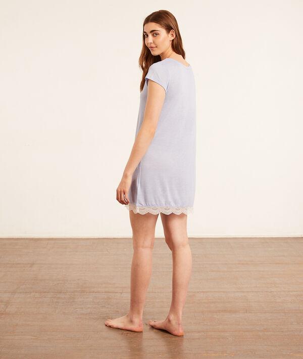 Lace trim nightdress;${refinementColor}