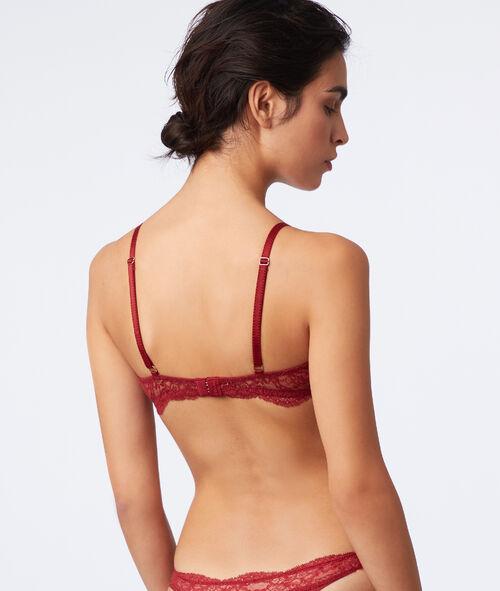 Lace bra with memory foam