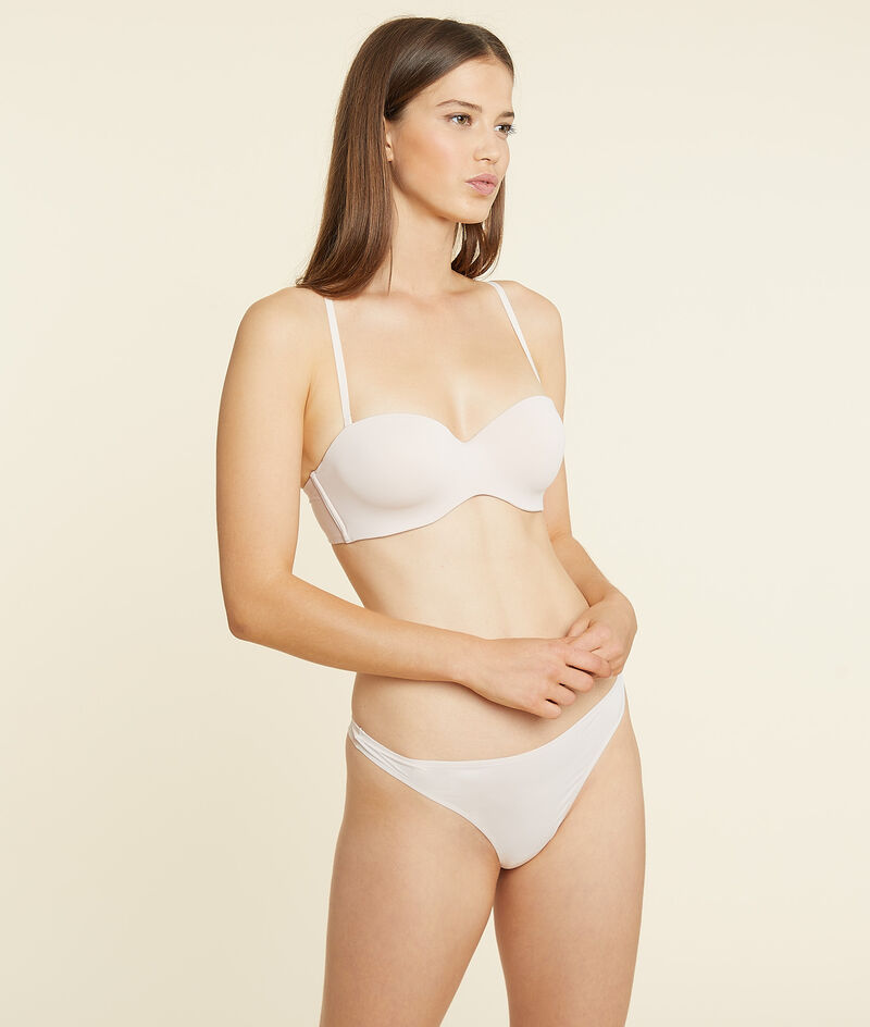 Lightly padded bandeau, removable straps;${refinementColor}