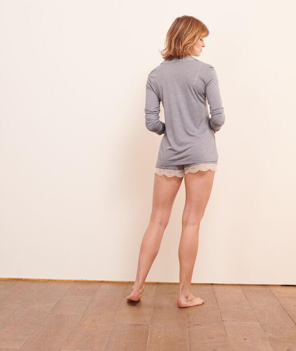 Lace edged shorts;${refinementColor}