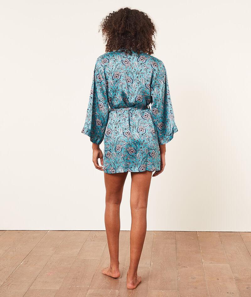 Print satin kimono;${refinementColor}