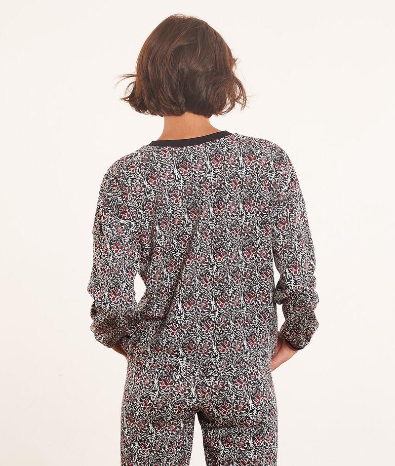 Long-sleeved print top ;${refinementColor}