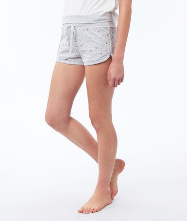 Printed shorts gray.