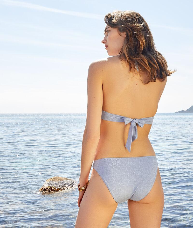 Long triangle bikini top;${refinementColor}
