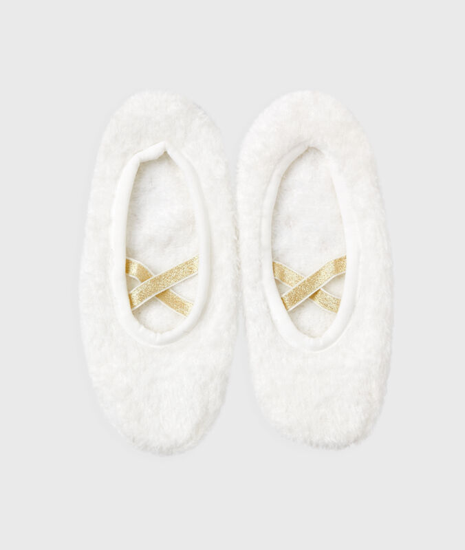 Soft slippers white.