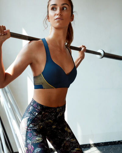 Sports bra - strong support navy.