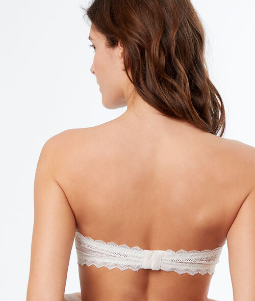 Lace strapless bra