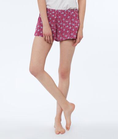 Printed shorts burgundy.
