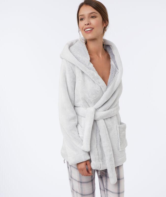 Faux fur jacket white.