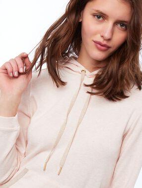 Hooded sweatshirt dress pale pink.