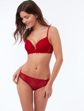 Lace briefs red.