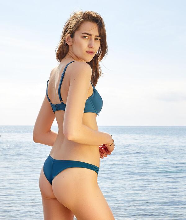 Unpadded demi-cup bikini top;${refinementColor}