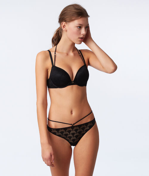 Bra no. 5 - classic padded lace bra with ties