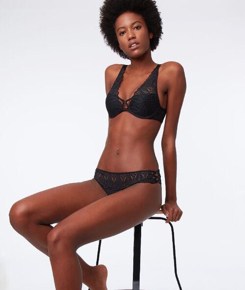 Bra n°3 - triangle push-up bra, corset back