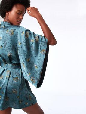 Kimono imprimé vert.