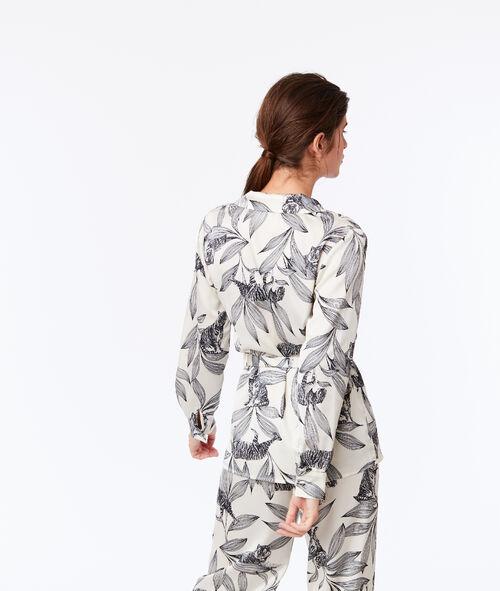 Floral print pyjama blouse