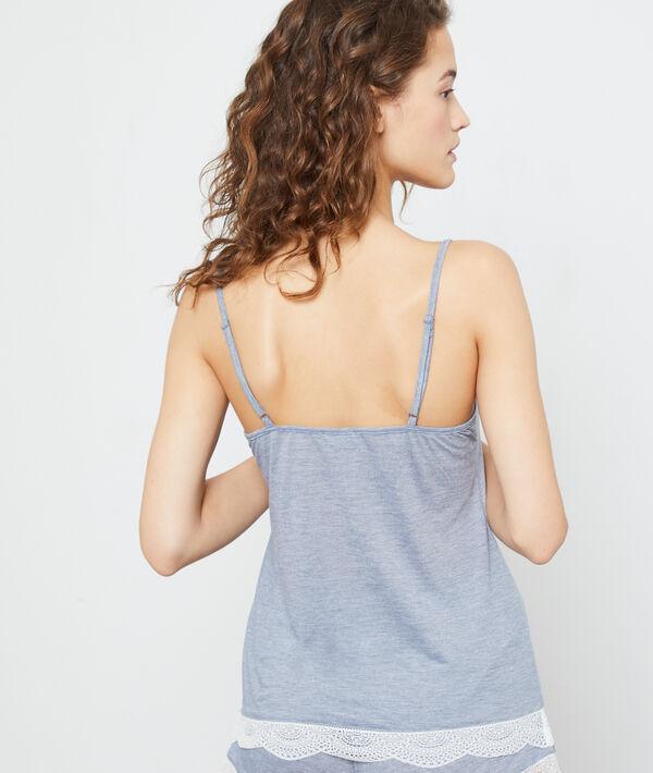Lace edged top;${refinementColor}