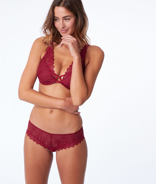 Bra n°6 - Natural look floral lace triangle bra