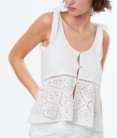English embroidery top white.
