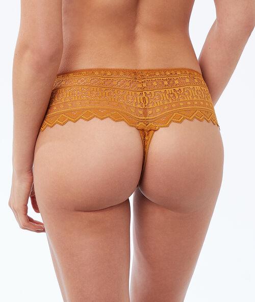 Graphic lace tanga