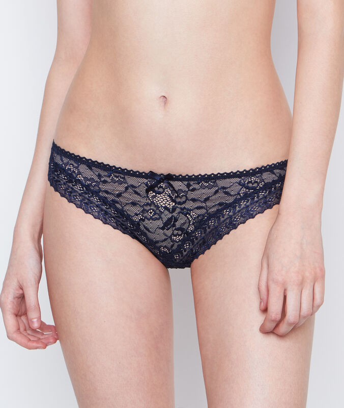 Lace knickers blue.