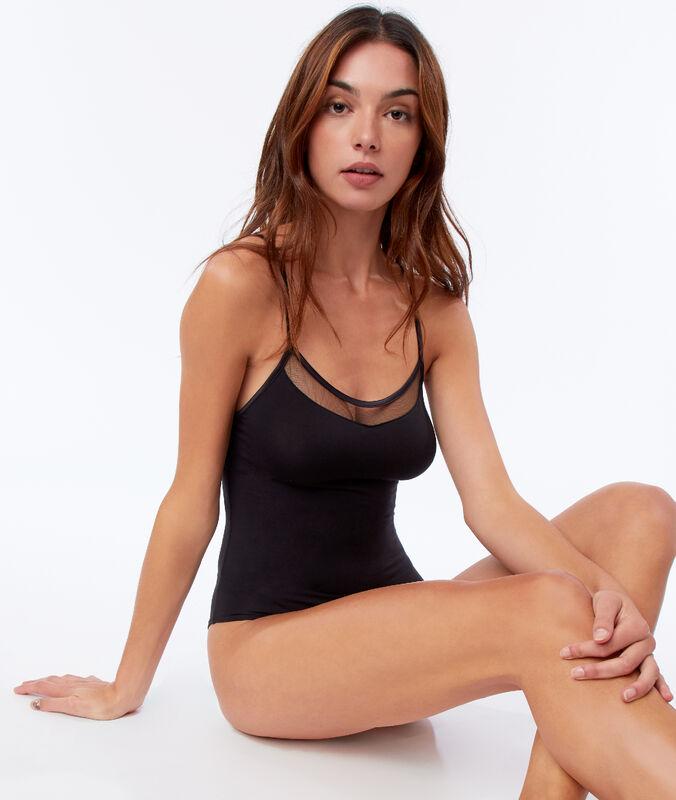 Body with transparent collar black.