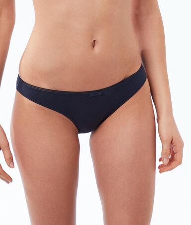 Plain cotton briefs navy.