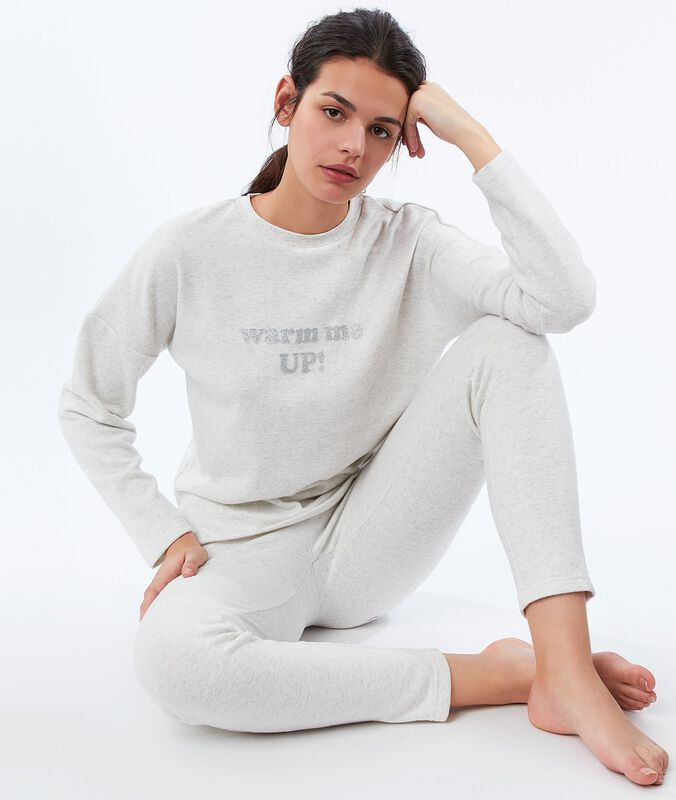 Leggings off-white heathered.