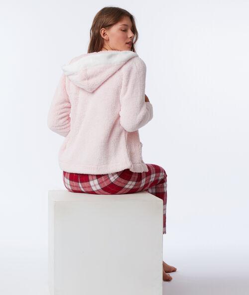 Three-piece cat print pyjama set