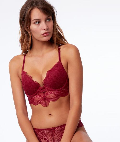 Bra no. 2 - Lace plunge push-up bra, open back