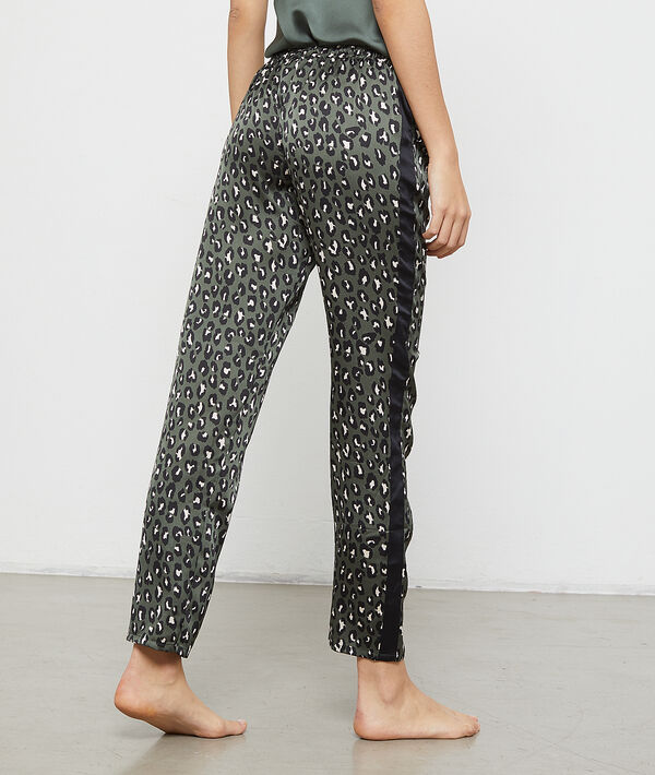 Leopard satin trousers