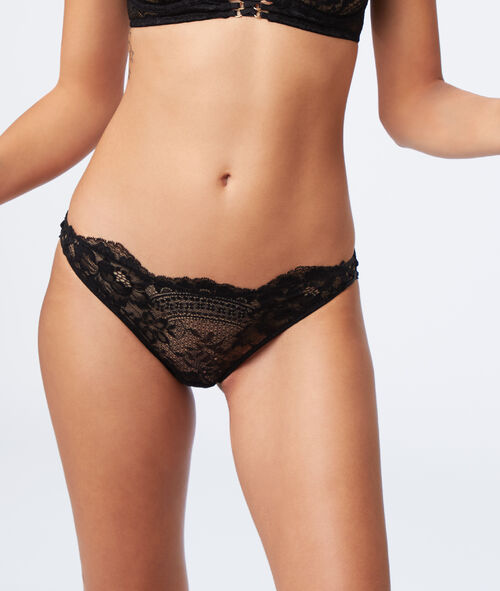 Floral lace knickers