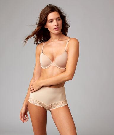 Culotte taille haute dentelle - niveau 1 : silhouette sculptée peau.