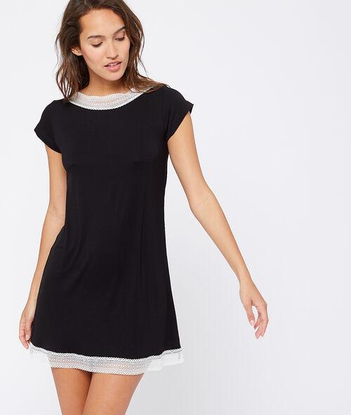 Lace edged nightshirt